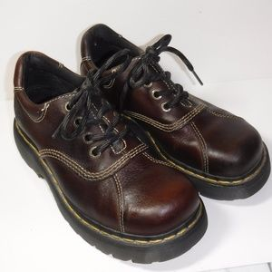 Dr. Martens Lace Up Oxfords, Brown, Size 6